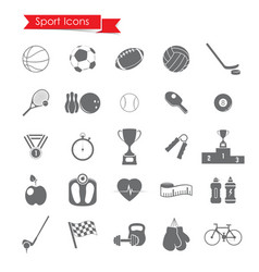 a sport icons sets vector image
