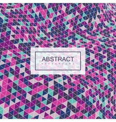 Abstract polygonal distorted background vector