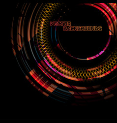 abstract round colors motion on a black vector image
