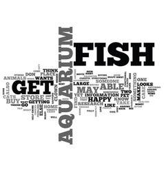 Aquarium fish magazine text word cloud concept vector