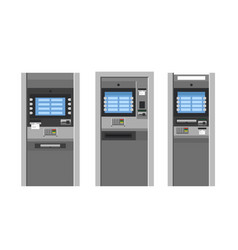 Atm machines flat style bank terminal vector