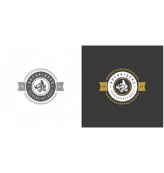 atv logo emblem off road vector image