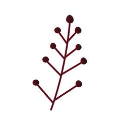 autumn leaf or berry branch vector image