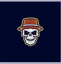 bandit skull head vector image