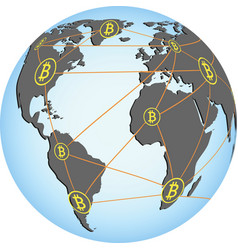 bitcoin network vector image