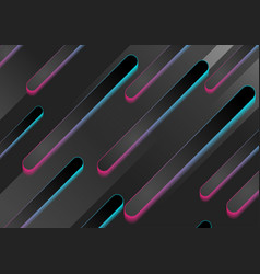 black abstract geometric tech backgroundn with vector image