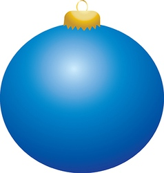 Blue Ball Ornament vector
