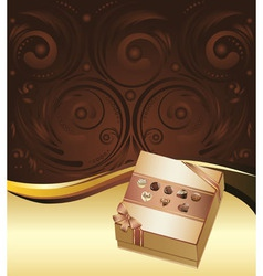 Brown Background with Chocolate Box3 vector
