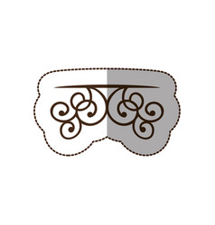brown decorative swirl shelf icon vector image