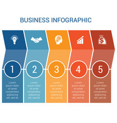 business infographic design for timeline five vector image