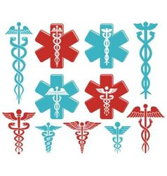 Caduceus as medical symbol vector