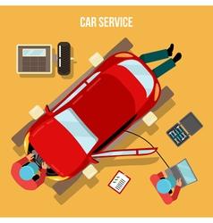 Car service repairs and diagnostics auto vector