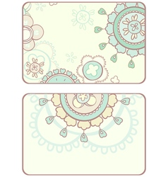 card with abstract circular pattern vector image