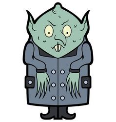 Cartoon nosferatu vampire vector