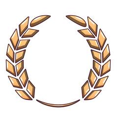 Certified wreath icon cartoon style vector