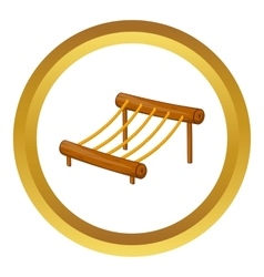 Children rope ladder icon vector image