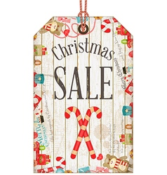 Christmas Sale Tag vector image