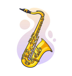 Classical music wind instrument saxophone blues vector