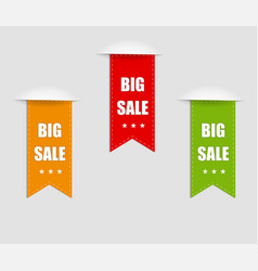 collection sale banners labels tags tally vector image