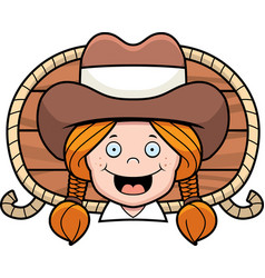 Cowgirl smiling vector