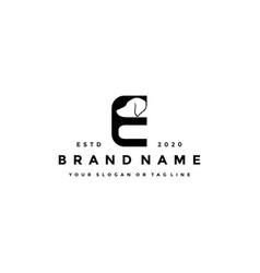 Creative design initials letter e dog vector
