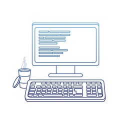 Degraded outline computer with programming code vector