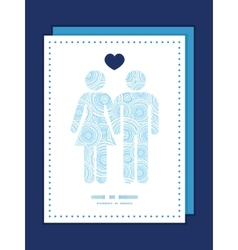 doodle circle water texture couple in love vector image