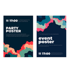 event paper art concept poster vector image