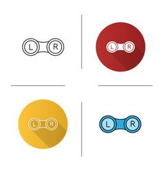 eye contact lens box icon vector image