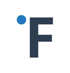 Fahrenheit icon vector