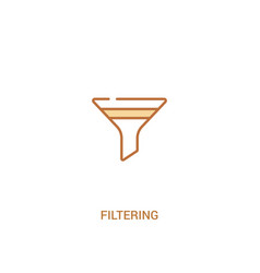 Filtering concept 2 colored icon simple line vector