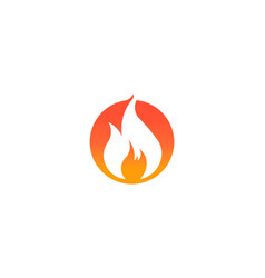fire flame with negative space logo symbol vector image
