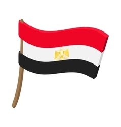 Flag of egypt icon cartoon style vector