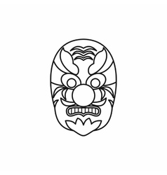 Hannya mask icon outline style vector image