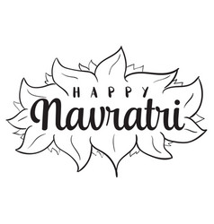 happy navratri festival of india vector image