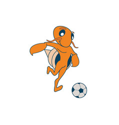 hermit soccer crab vector image