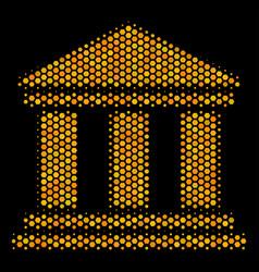 hexagon halftone library building icon vector image