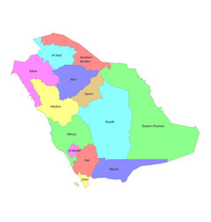 High quality labeled map saudi arabia with vector
