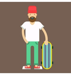Hipster Skater vector image