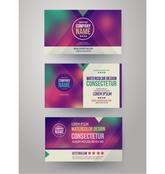 identity templates with blurred abstract vector image