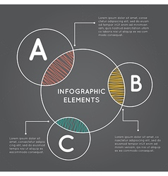Infographics overlapping circles vector