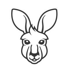kangaroo head icon logo on white background vector image