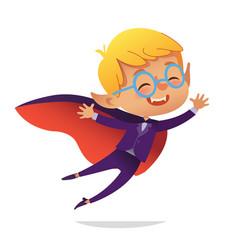 kids costume party dracula vampire boy in vector image