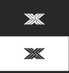 Logo x capital letter monogram identity initial vector