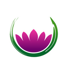 lotus zen abstract symbol vector image