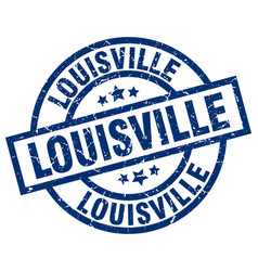 Louisville blue round grunge stamp vector