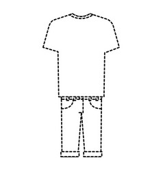 male casual clothes icon vector image