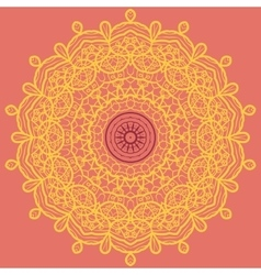 Mandala Print Orange vector image