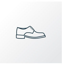 Men footwear outline symbol premium quality vector