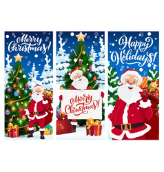 merry christmas banners greeting cards vector image